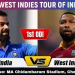 INDIA VS WEST INDIES LIVE CRICKET MATCH