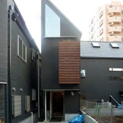 旗竿型敷地に建つ耐震等級3の家