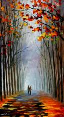 Leonid-afremov-fall-fog