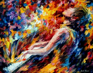 MUSIC_FIGHT___Leonid_Afremov_by_Leonidafremov