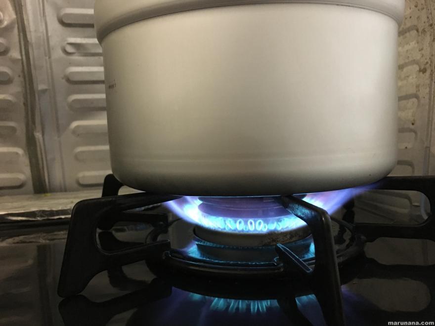 ガスで炊飯