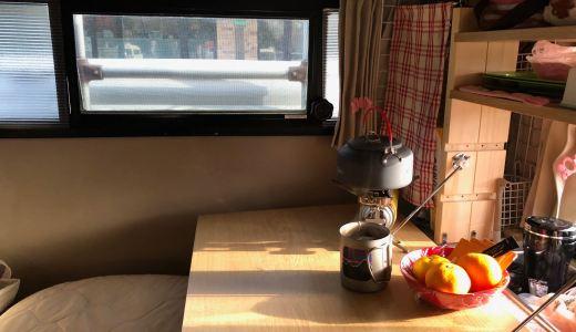【車中泊】軽キャンピングカーテントむしでソロ車中泊  〜道の駅花ロードえにわ 北海道恵庭市〜