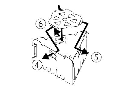 デルタストーブ組み立て方法