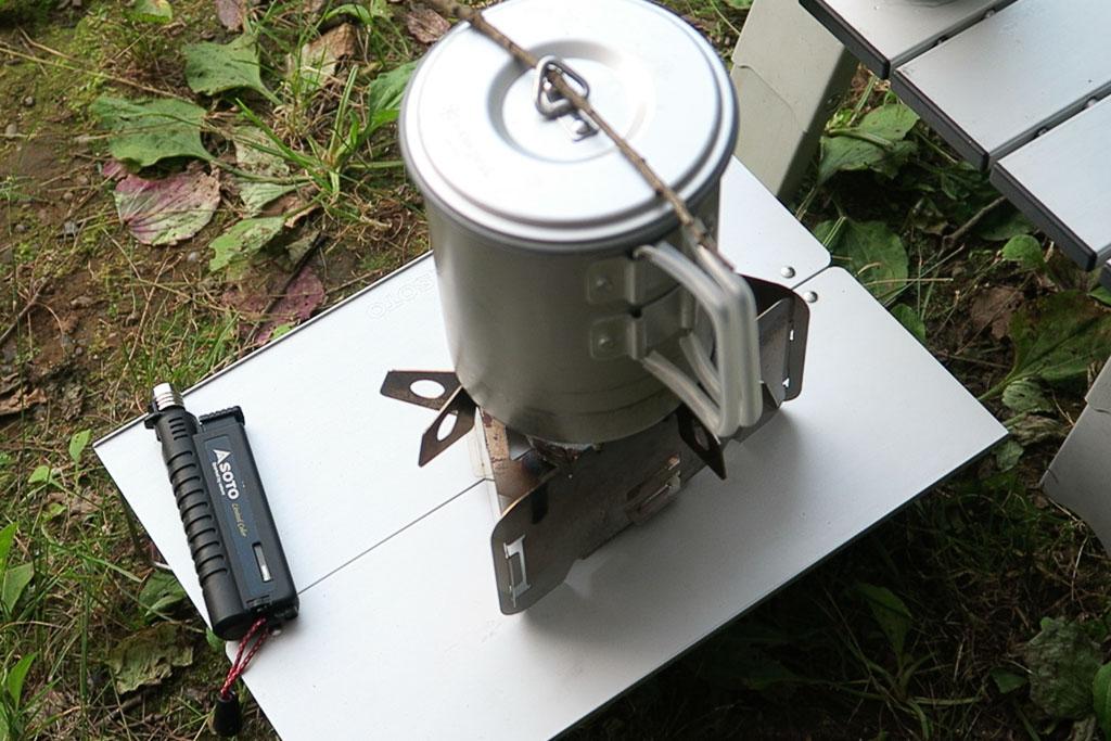 ソロセット焚とデルタストーブを使って自動炊飯