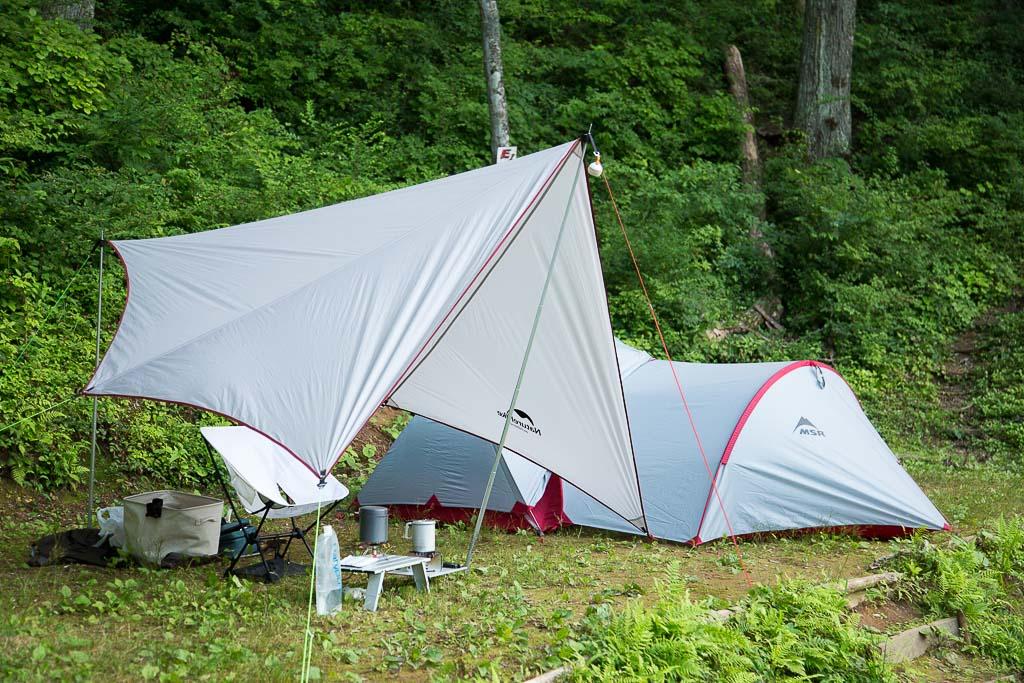 四尾連湖でソロキャンプ