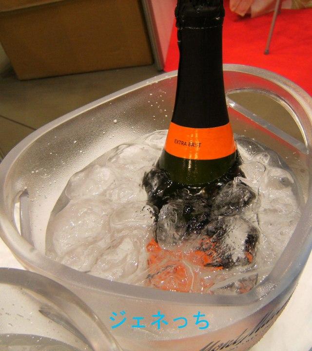 冷えたスパークリングワイン