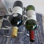 ワインラックにワイン2本横に置いてみた