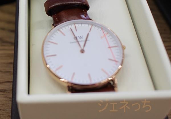 ダニエルウェリントン腕時計 丸形と、シンプルなデザイン