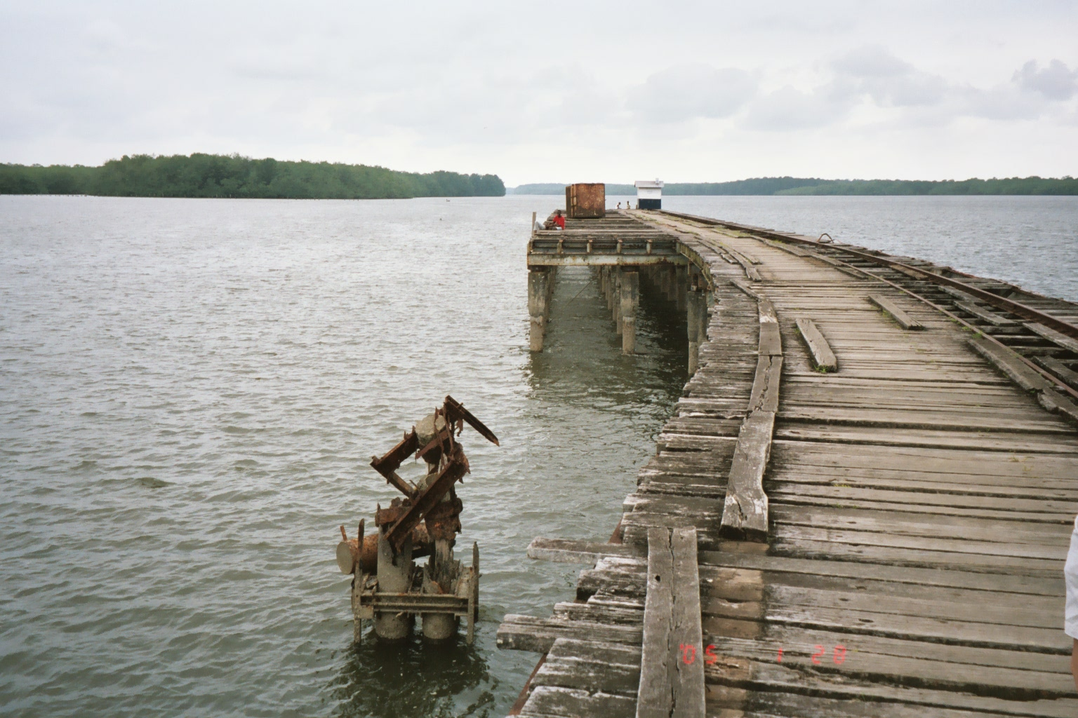 The pier extending out into the water