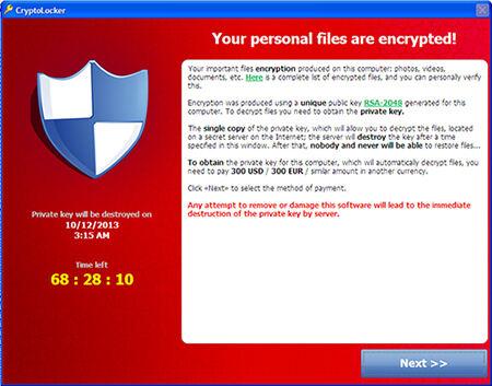 CryptoLocker scan