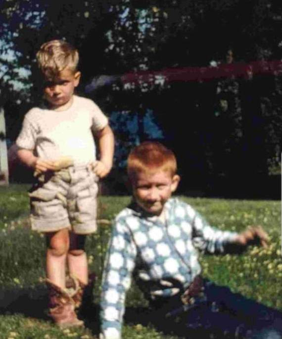 Timothy Murphy (right) and his brother, Jim, as seen in 1959 at Jim and Tim as boys at Floyd Lake, Minn. Special to The Forum