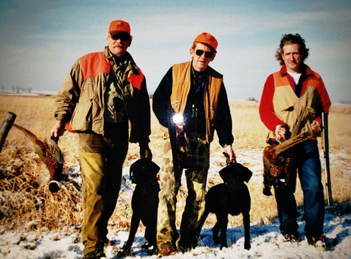 Cousin John Murphy (from left) with brothers Timothy and Jim as seen during a 2001 hunting trip near Parmelee, S.D. Special to The Forum