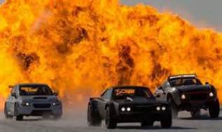 Photo d'une explosion dans le film Fast & Furious 8