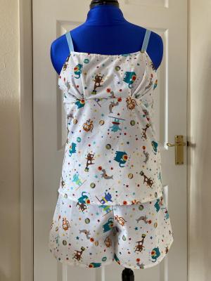 Circus Pyjamas Using The Makery Pyjama Pattern | The Marvellous Mrs Maus