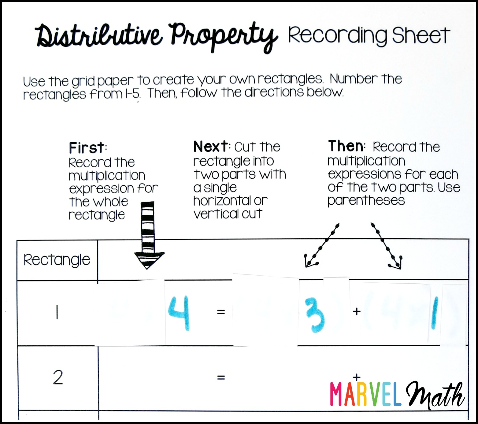 Area And The Distributive Property On The Multiplication