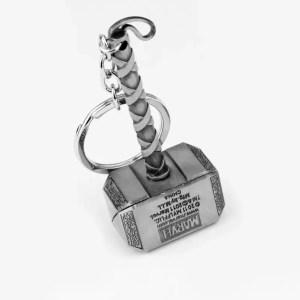 Thor hammer metal keychain - MarvelOfficial.com