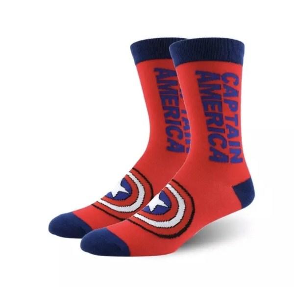 Marvel Socks - Marvel Captain America Crew Socks - Marvelofficial.com
