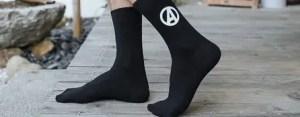Marvel Socks - Marvel Avengers Black Crew Socks - marvelofficial.com