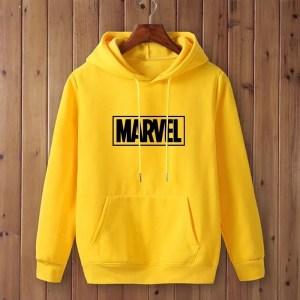 Marvel yellow logo hoodie - Marvelofficial.com
