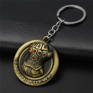 gold Thanos Infinite Power Keychain - Marvelofficial.com