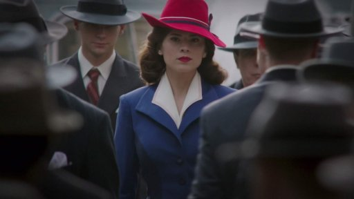 Hayley Atwell as Peggy Carter in Marvel's Agent Carter.