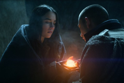 """Jessie Mei Li and Archie Renaux as Alina Starkov and Mal Oretsev in Shadow and Bone's """"The Heart is an Arrow"""""""