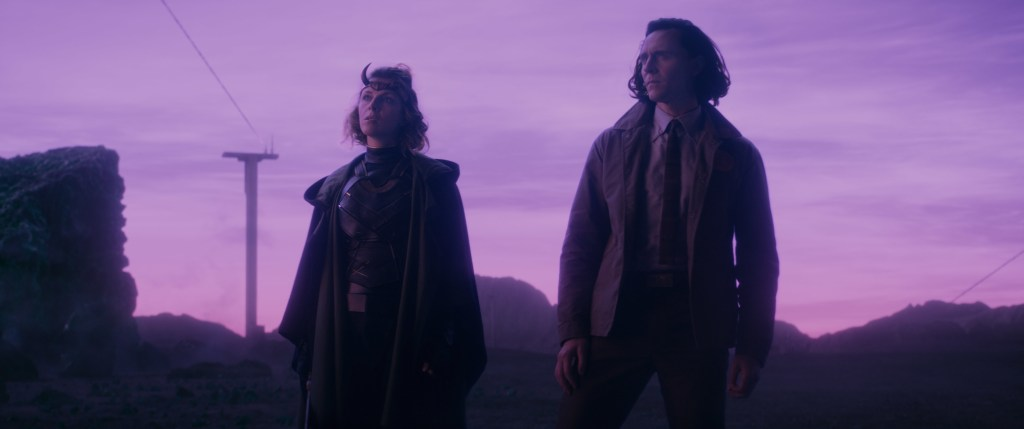 "(L-R) Sophia Di Martino and Tom Hiddleston in Marvel Studios' Loki episode 3 ""Lamentis"" Photo courtesy of Marvel Studios. @Marvel Studios 2021. All Rights Reserved."