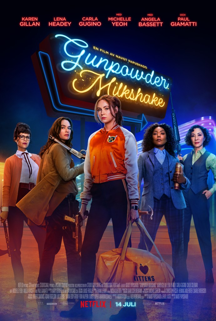 Official Key Art poster for Gunpowder Milkshake