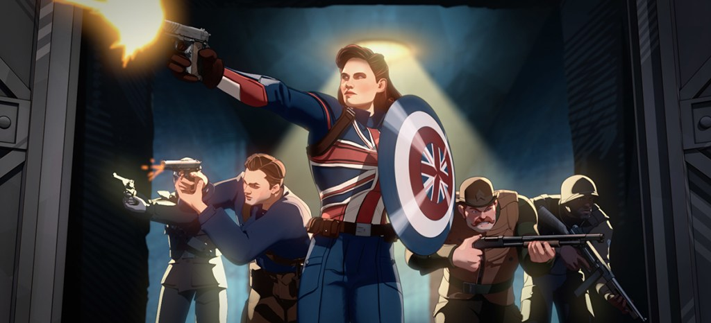 Captain Carter and the Howling Commandos in Disney's What If...?