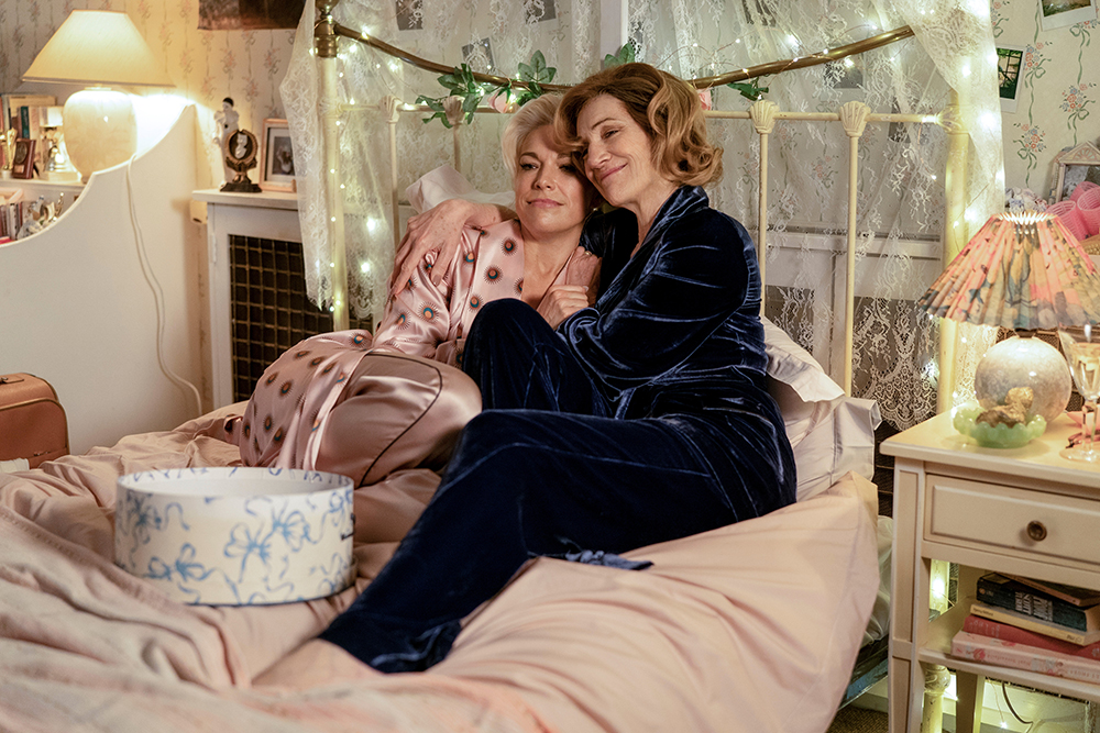 """Hannah Waddingham and Harriet Walter in """"Ted Lasso"""" season two, episode 10, """"No Weddings and a Funeral"""" now streaming on Apple TV+."""