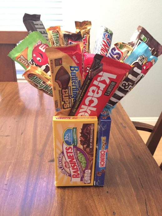 autism dad gifts, candy bouquet