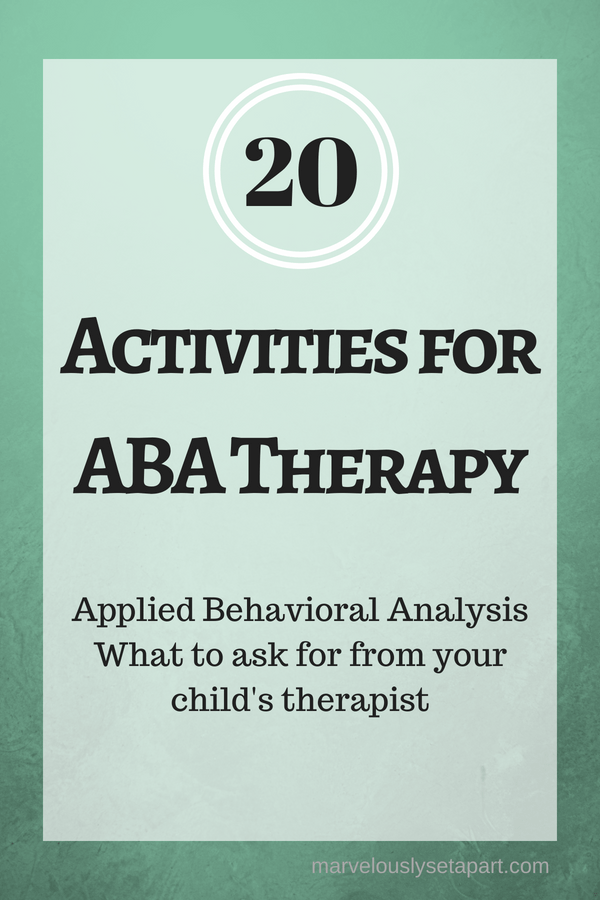 activities for ABA therapy