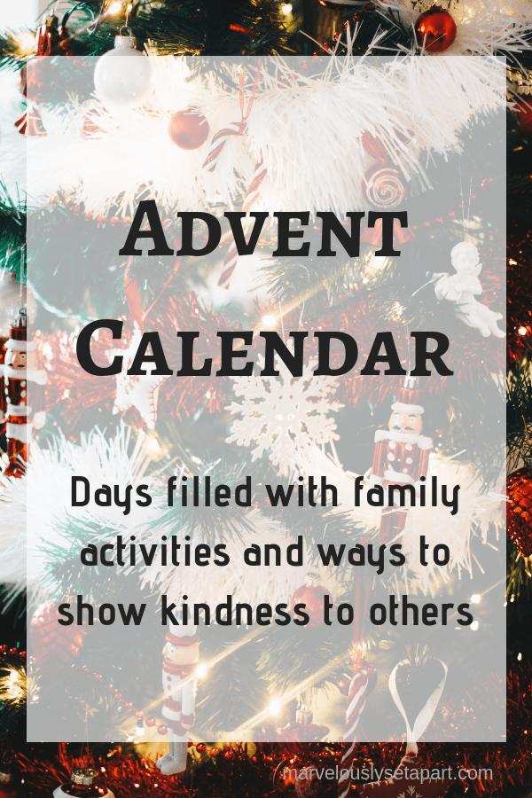 advent calendar for autism families