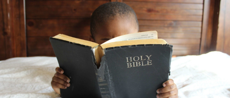 reading bible with children