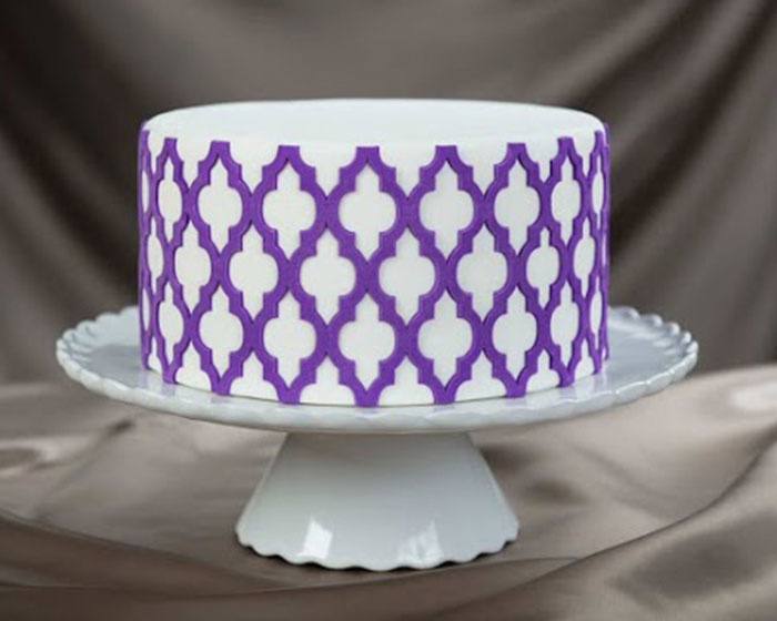 Moroccan Lattice Onlay A 3D Stencil For Cakes And Arts