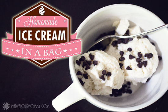 Homemade Ice Cream in a bag Recipe