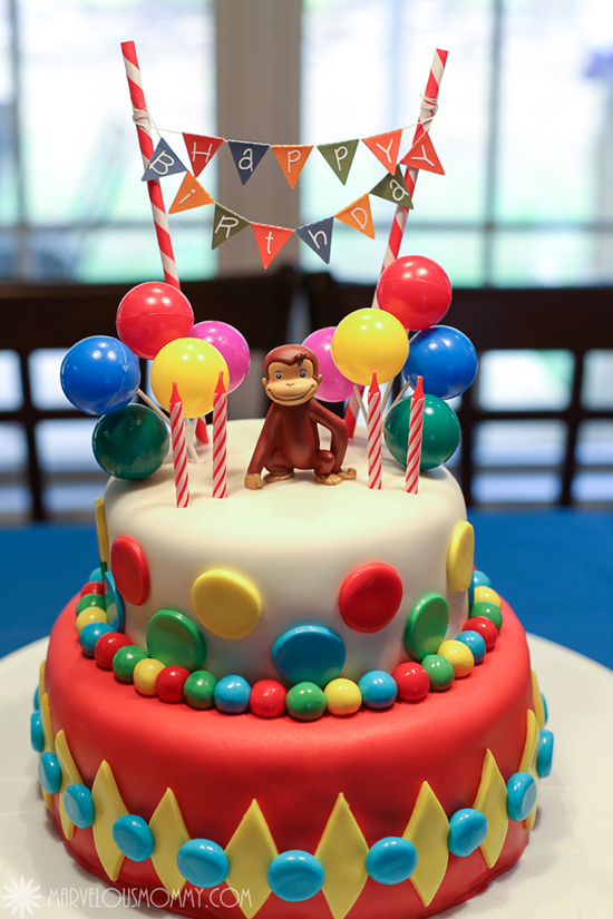 Terrific Natalies Curious George Birthday Party Marvelous Mommy Funny Birthday Cards Online Sheoxdamsfinfo
