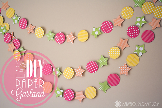 How To: DIY Paper Garland – Marvelous Mommy