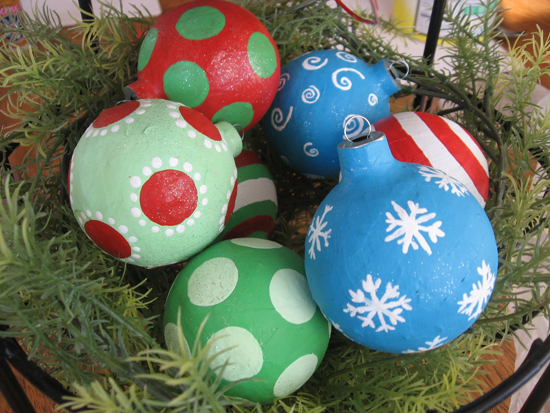 Chrismas Paper Mache Ornaments