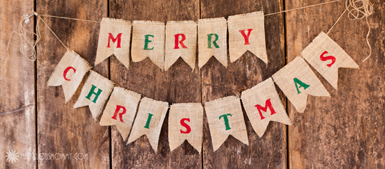 you could use this as a photography prop or as a christmas decoration for your home - Merry Christmas Burlap Banner