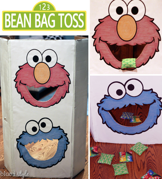 DIY Sesame Street Bean Bag Toss Game