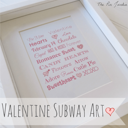 How To Make Valentine Subway Art with PicMonkey