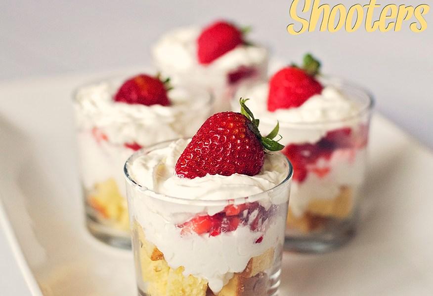 Mini Strawberry Shortcake Shooters