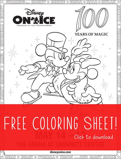 Disney On Ice Coloring Sheet