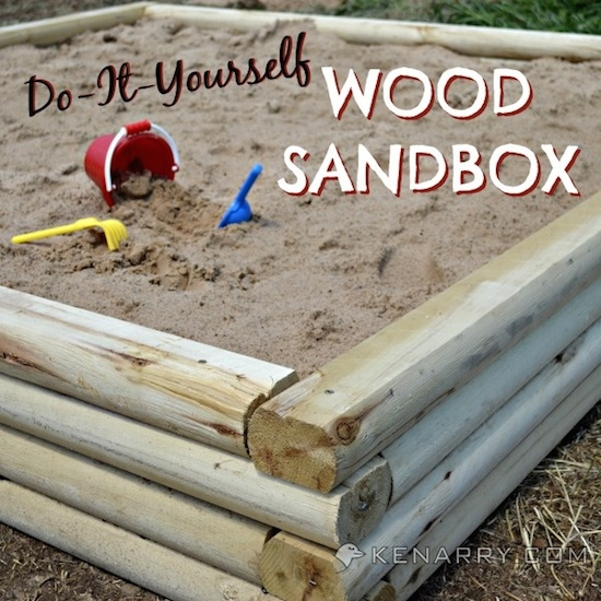 DIY Wood Sandbox
