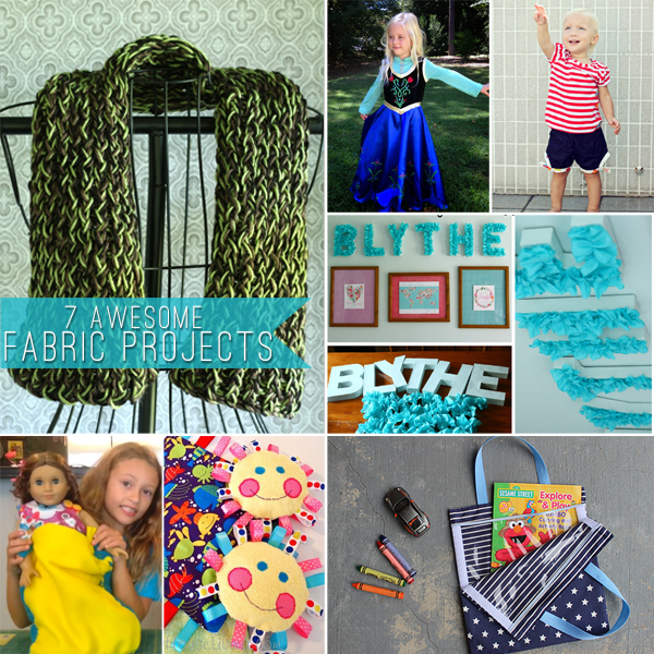 Project Inspired No 7 Linky Party Features Beautiful: 7 Awesome Fabric Projects #CreateLinkInspire