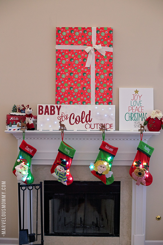 DIY Christmas Mantel Canvas