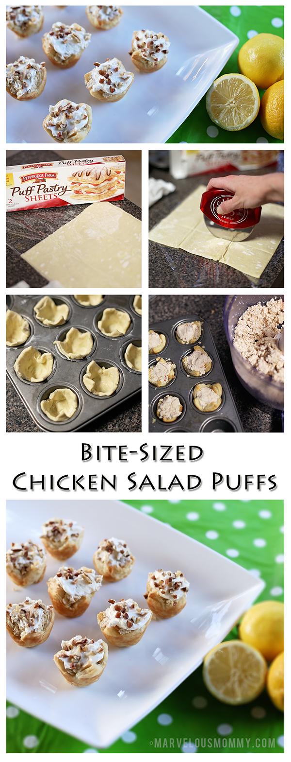 Bite-Sized Chicken Salad Puffs Recipe