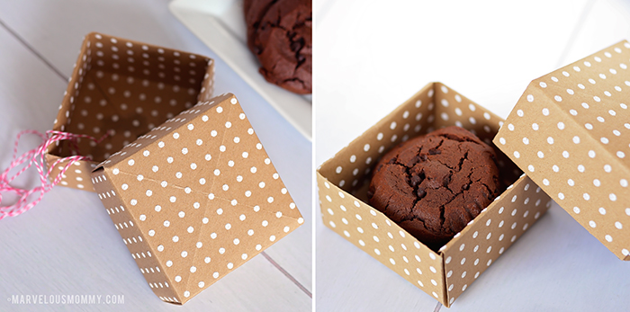 Easy DIY Gift Box made with scrapbook paper