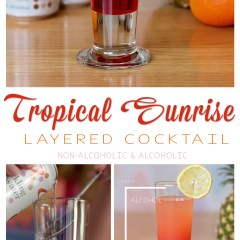 Tropical Sunrise Layered Cocktails Recipe